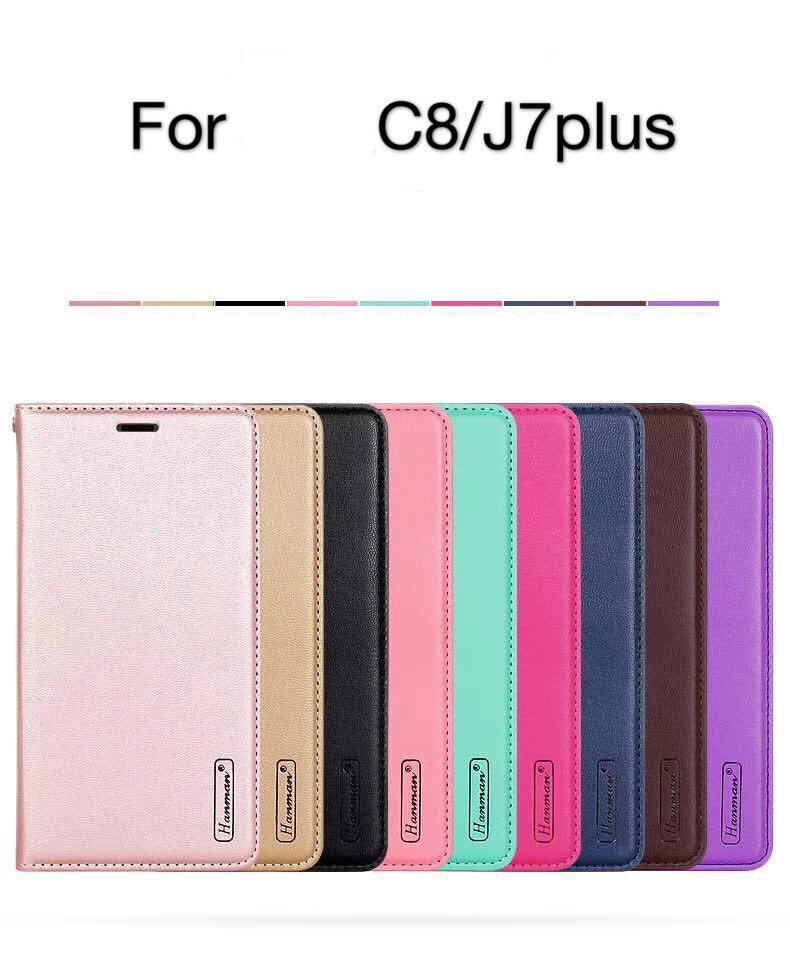 (658-002)เคสมือถือซัมซุง Case Samsung J7+/Plus/C8 เคสนิ่มสไตล์สมุดเปิดข้างแฟชั่นสวยๆ