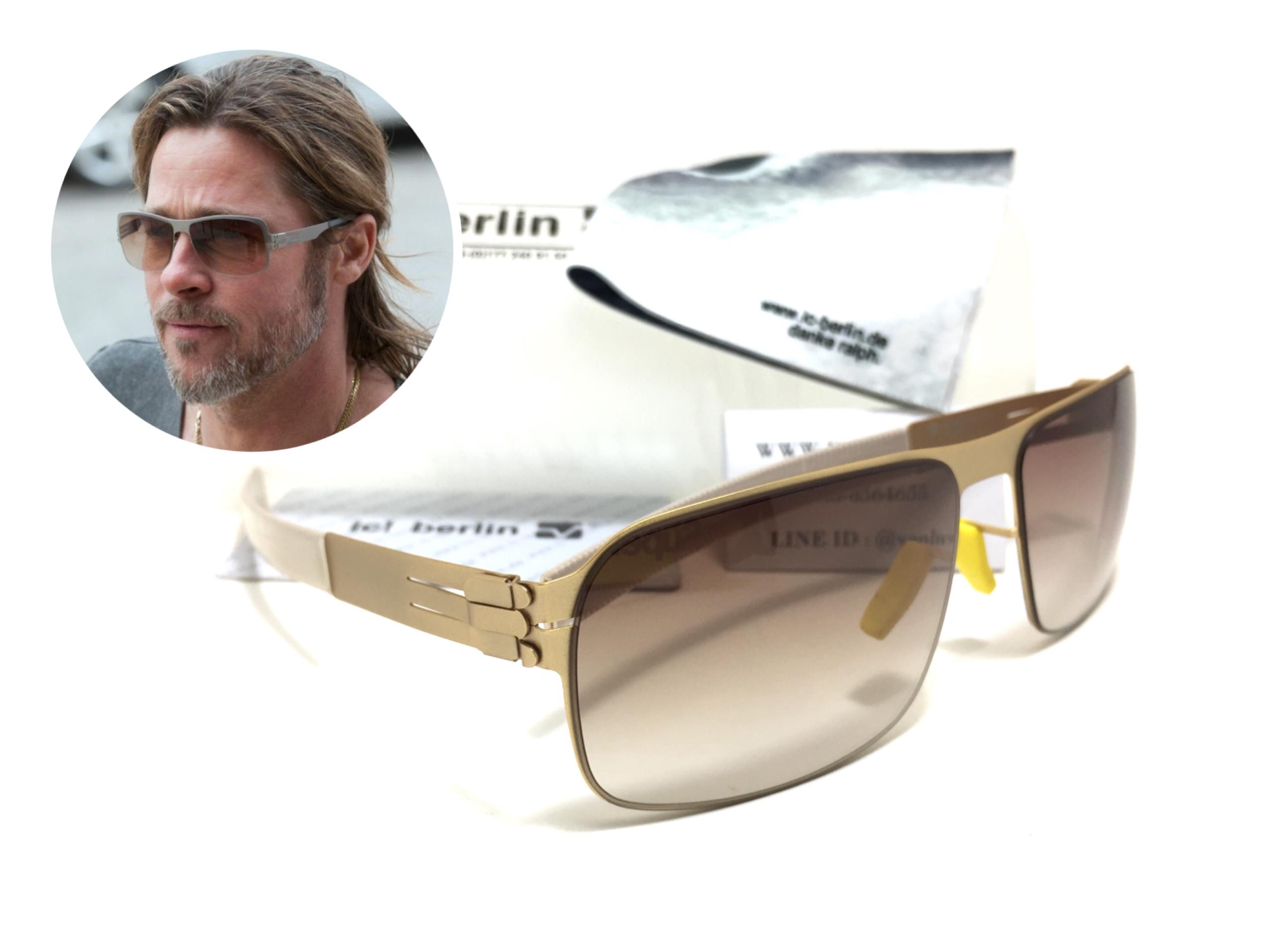 แว่นกันแดด ic berlin model nufenen matt gold 61-16 <ทอง>