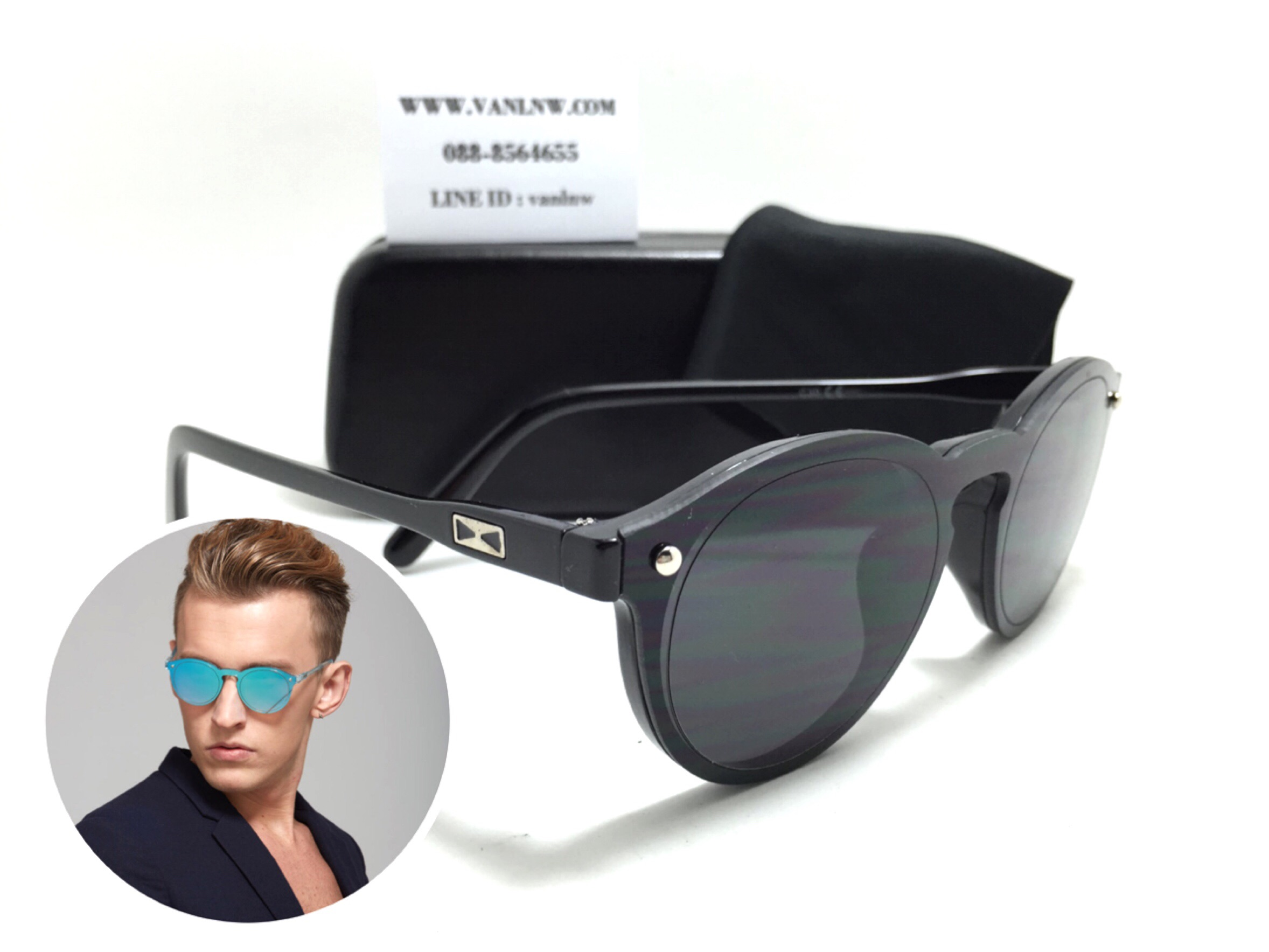 แว่นกันแดดแฟชั่น S1881 55-15-135 <ดำ>