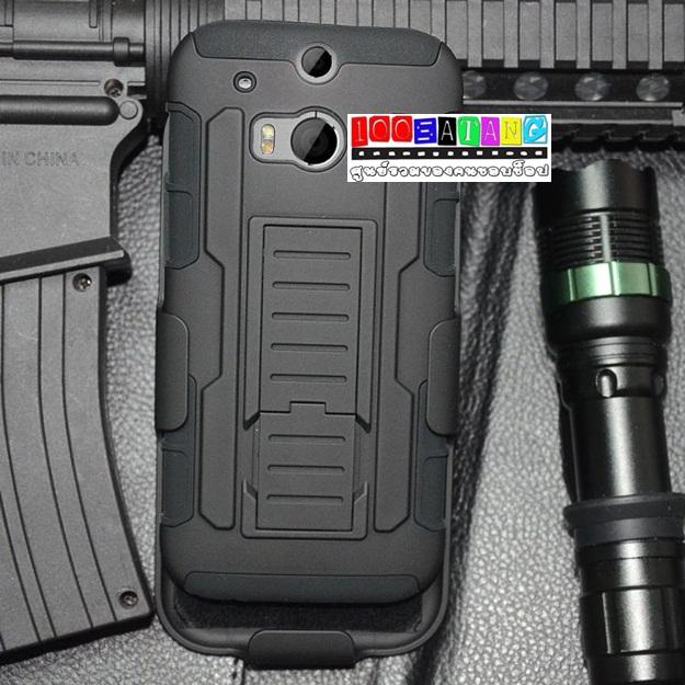 (002-015)เคสมือถือ HTC M8 เคสกันกระแทกแบบเหน็บเอว
