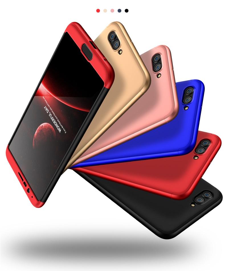 (025-1058)เคสมือถือ Case Huawei Honor View 10 เคสคลุมรอบป้องกันขอบด้านบนและด้านล่างสีสันสดใส