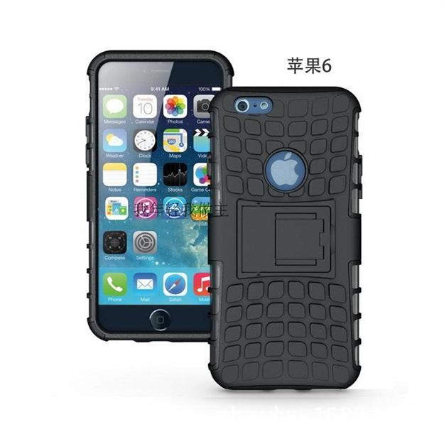 (พร้อมส่ง)เคสมือถือไอโฟน case iphone 6/6S เคสนิ่มพื้นหลังพลาสติกแข็งขอบสีกันกระแทก