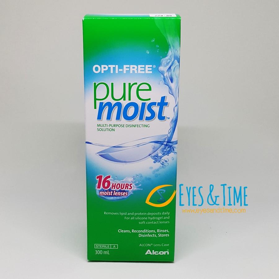 Opti-Free PureMoist 300 ml. น้ำยาล้าง แช่ คอนแทคเลนส์ ขวดใหญ่