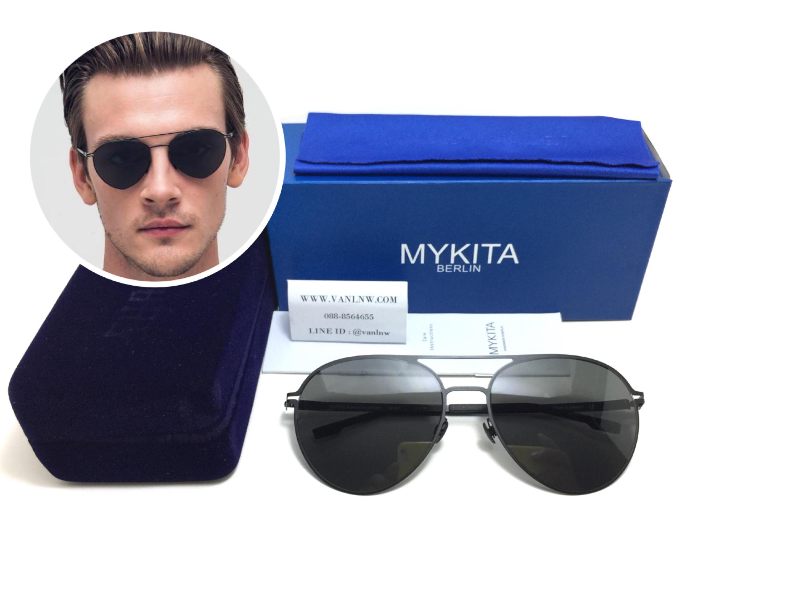 แว่นกันแดด MYKITA JOLAN Black/Pitch Black <ดำ>