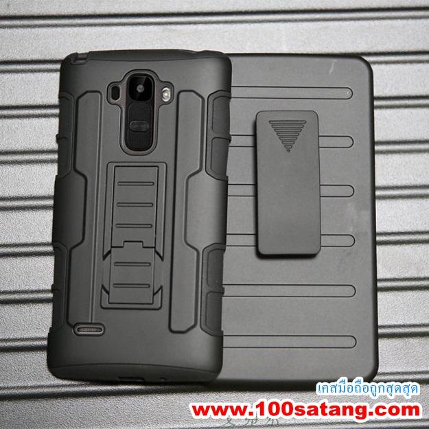 (002-059)เคสมือถือ Case LG G4 Stylus เคสรุ่นกันกระแทกขอบสีเหน็บเอว