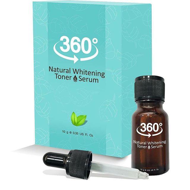 360 Natural Whitening Toner Serum ผลิตภัณฑ์ชุด 360 ไวท์เทนนิ่ง โทนเนอร์ ที่มุ่งจัดการกับปัญหา ฝ้า กระ จุดด่างดำ