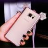 (022-089)เคสมือถือซัมซุง Case Note5 เคสนิ่มใสหูมิกกี้เมาส์ประดับเพชร