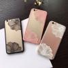 (151-384)เคสมือถือไอโฟน case iphone 6Plus/6S Plus เคสพลาสติกใสลายดอกไม้แฟชั่น