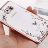 (436-033)เคสมือถือซัมซุง Case Samsung Galaxy S7 Edge เคสนิ่มใสขอบชุบแววพื้นหลังลายดอกไม้ผีเสื้อ