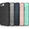 (436-170)เคสมือถือไอโฟน Case iPhone 6Plus/6S Plus เคสแข็งกึ่งนิ่มสไตล์กันกระแทกมีช่องใส่การ์ดด้านหลังและขาตั้งในตัว