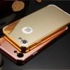 (025-968)เคสมือถือไอโฟน Case iPhone7/iPhone8 เคสกรอบบัมเปอร์โลหะฝาหลังอะคริลิคแววกึ่งกระจก