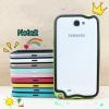 (423-004)เคสมือถือ Samsung Galaxy Note2 เคสบัมเปอร์ทูโทนประกบสองชิ้น