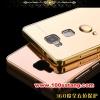 (025-152)เคสมือถือ Case HUAWEI Ascend mate7 เคสกรอบโลหะพื้นหลังอะคริลิคเคลือบเงาทองคำ 24K