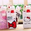 (462-018)เคสมือถือไอโฟน case iphone 6Plus/6S Plus เคสนิ่ม Kitty 3D
