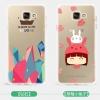 (432-002)เคสมือถือซัมซุง Case Samsung A5 (2016) เคสนิ่มใสแบบบางกันรอยนิ้วมือลายการ์ตูนน่ารักๆ