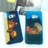 (597-003)เคสมือถือซัมซุง Case Samsung S6 Edge Plus เคสนิ่มใสบลูเรย์หมี