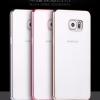 (434-006)เคสมือถือซัมซุง Case Samsung S6 edge เคสนิ่มใสกันรอยนิ้วมือขอบชุบแวว