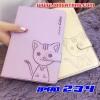 (391-077)เคสไอแพด iPad2/3/4 เคสนิ่มสมุดเปิดข้างลายแมวน่ารักๆ DOMI CAT