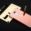 (025-215)เคสมือถือ Case LG Stylus2 Plus เคสกรอบโลหะพื้นหลังอะคริลิคแวววับคล้ายกระจกสวยหรู