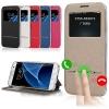 (436-111)เคสมือถือซัมซุง Case Samsung Galaxy Note7 เคสนิ่มสไตล์เปิดข้างโชว์หน้าจอ