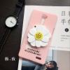 (496-036)เคสมือถือ Case OPPO R7 Plus เคสพลาสติกดอกไม้กระจก