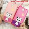 (391-008)เคสมือถือซัมซุงโน๊ต Case Note3 เคสนิ่มฝาหลังลายแมวน่ารักๆ DOMI CAT