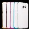 (436-065)เคสมือถือซัมซุง Case Samsung S6 Edge เคสนิ่มใสบางขอบชุบแวว