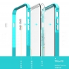 (436-077)เคสมือถือไอโฟน case iphone 6Plus/6S Plus เคสประกบสองชิ้น PC+TPU พื้นหลังนิ่มใสขอบสี