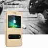 (516-012)เคสมือถือ Case Huawei Honor 4A เคสพลาสติกฝาพับ Pu โชว์หน้าจอแบ็คแกมมอน