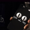 (440-108)เคสมือถือวีโว่ Vivo Y37 เคสนิ่มแมวดำตาโต 3D
