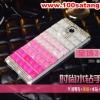 (022-054)เคสมือถือซัมซุงโน๊ต Note3 Neo เคสพลาสติกใส Rhinestone สวยๆไล่โทนสี