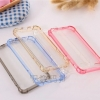 (436-079)เคสมือถือไอโฟน case iphone 6Plus/6S Plus เคสใสอะคริลิคขอบสี