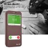 (008-037)เคสมือถือซัมซุง Case Samsung S6 เคสพลาสติกฝาพับ PU โชว์หน้าจอเท็กเจอร์ลายหนัง