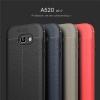 (025-815)เคสมือถือซัมซุง Case Samsung A7 2017 เคสนิ่มซิลิโคนลายหนังสไตส์เรียบหรู