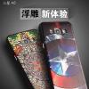 (482-005)เคสมือถือซัมซุง Case Samsung A8 เคสนิ่มคลุมเครื่องพื้นหลังดำลายนูนกราฟฟิคสวยๆ 3D