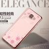 (526-001)เคสมือถือซัมซุง Case Samsung A9 Pro เคสนิ่มใสขอบชุบแววพื้นหลังลายดอกไม้