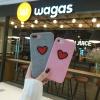 (466-009)เคสมือถือไอโฟน Case iPhone 7 เคสพลาสติกผ้าสักหลาดลายหัวใจ