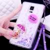 (559-023)เคสมือถือซัมซุงโน๊ต Case Note4 เคสพลาสติกใสทรายดูด Glitter ประดับแหวนโลหะสวยๆแฟชั่น