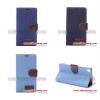 (027-368)เคสมือถือโซนี่ Case Sony Xperia Z3 เคสนิ่มฝาพับสไตล์ยีนส์คลาสสิค