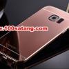 (พร้อมส่ง)เคสมือถือซัมซุง Case Samsung S6 เคสกรอบโลหะพื้นหลังอะคริลิคเคลือบเงาทองคำ 24K