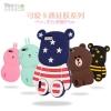 (013-005)เคสมือถือ Case Huawei Honor 6 Plus เคสนิ่มตัวการ์ตูนกระต่ายและหมี 3D