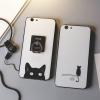 (025-1017)เคสมือถือ Case OPPO R9s Plus/R9s Pro เคสนิ่มคลุมรอบลายแมวดำน่ารัก แบบมีแหวนมือถือ/ไม่มีแหวนมือถือ พร้อมสายคล้องคอถอดแยกสายได้