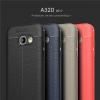 (025-814)เคสมือถือซัมซุง Case Samsung A3 2017 เคสนิ่มซิลิโคนลายหนังสไตส์เรียบหรู