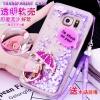 (559-008)เคสมือถือซัมซุง Case Samsung S7 Edge Plus เคสพลาสติกใสทรายดูด Glitter ประดับแหวนโลหะสวยๆแฟชั่น