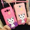 (391-049)เคสมือถือซัมซุง Case Samsung Galaxy J7 เคสนิ่มฝาหลังลายแมวน่ารักๆ DOMI CAT