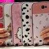 (440-030)เคสมือถือ Samsung Galaxy Note2 เคสนิ่มขอบสีพื้นหลังลายสวยๆน่ารักๆ