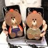 (025-573)เคสมือถือ Case OPPO R7/R7 Lite เคสนิ่มลายหมี พร้อมสายคล้องคอแบบถอดแยกได้