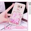 (559-006)เคสมือถือซัมซุง Case Samsung S6 Edge Plus เคสนิ่มใสเพชรคริสตัลขวดน้ำหอมแฟชั่นสวยๆ