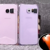 (502-018)เคสมือถือซัมซุง Case Samsung S6 Edge Plus เคสนิ่มใสสไตล์กันกระแทกเปิด Flash LED