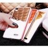 (022-085)เคสมือถือ Case OPPO R7/R7 Lite เคสนิ่มใสพื้นหลังอะคริลิคชุบแววใสดั่งกระจก